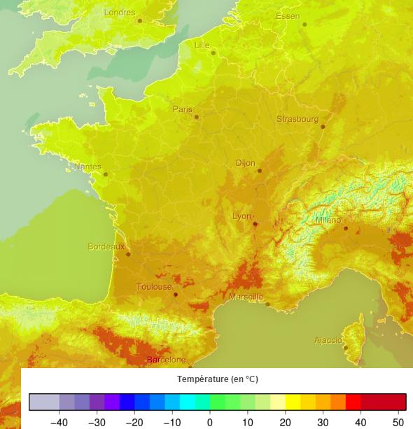 Image d'illustration pour Nuit record près de la Méditerranée - très fortes chaleurs en journée
