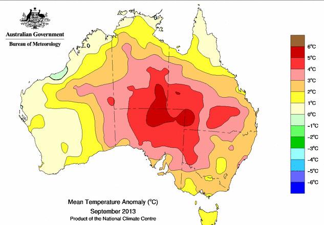 Image d'illustration pour Chaleurs remarquables en Australie
