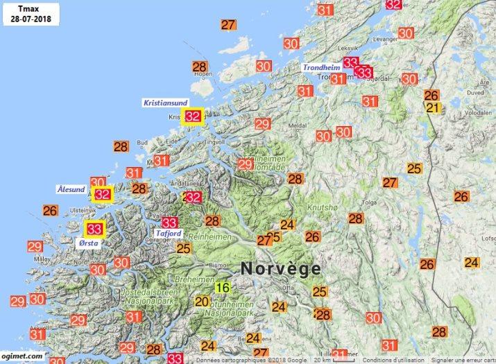 Image d'illustration pour Chaleur record en Europe du Nord