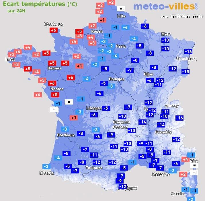 Image d'illustration pour Vague de chaleur tardive puis chute des températures
