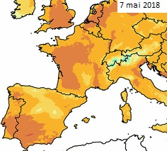 Image d'illustration pour Soleil et chaleur au Nord mais orages au Sud ce début mai