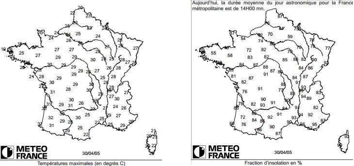 Image d'illustration pour Il y a 8 ans, le 30 avril 2005, la France avait chaud