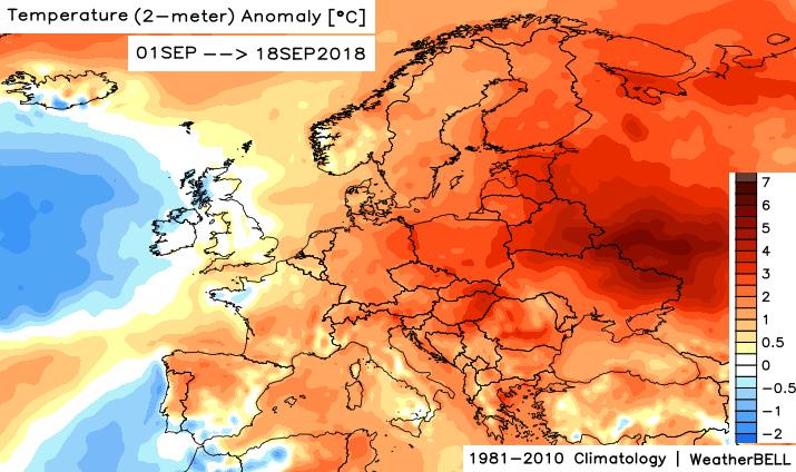 Image d'illustration pour Vers un mois de septembre plus chaud que la normale