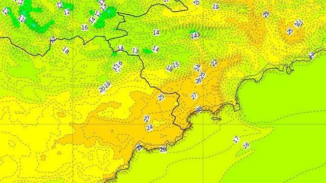 Image d'illustration pour Records mensuels de chaleur pulvérisés sur la Côte d'Azur
