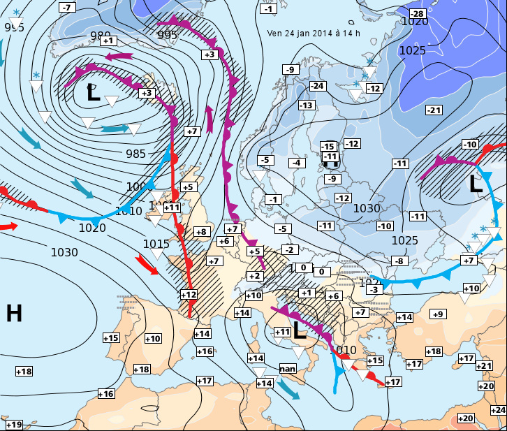 Image d'illustration pour Europe : froid à l'Est, doux à l'Ouest