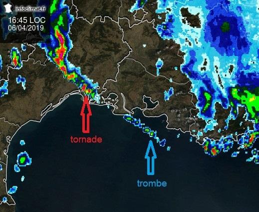Image d'illustration pour Forts orages et tornades dans le sud de la France