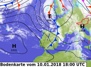 Image d'illustration pour Coup de vent sur l'Atlantique & neige sur les Pyrénées