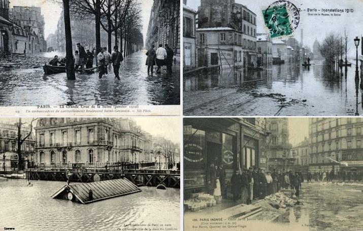 Image d'illustration pour Crues majeures de la Seine au XXe siècle : retour en images