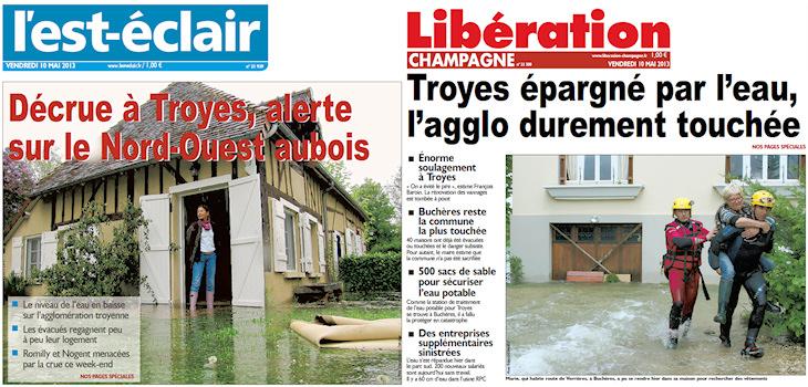 Image d'illustration pour La Seine toujours en crue dans l'Aube