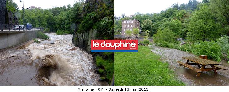 Image d'illustration pour Fortes pluies vers les Cévennes - Crue en Ardèche