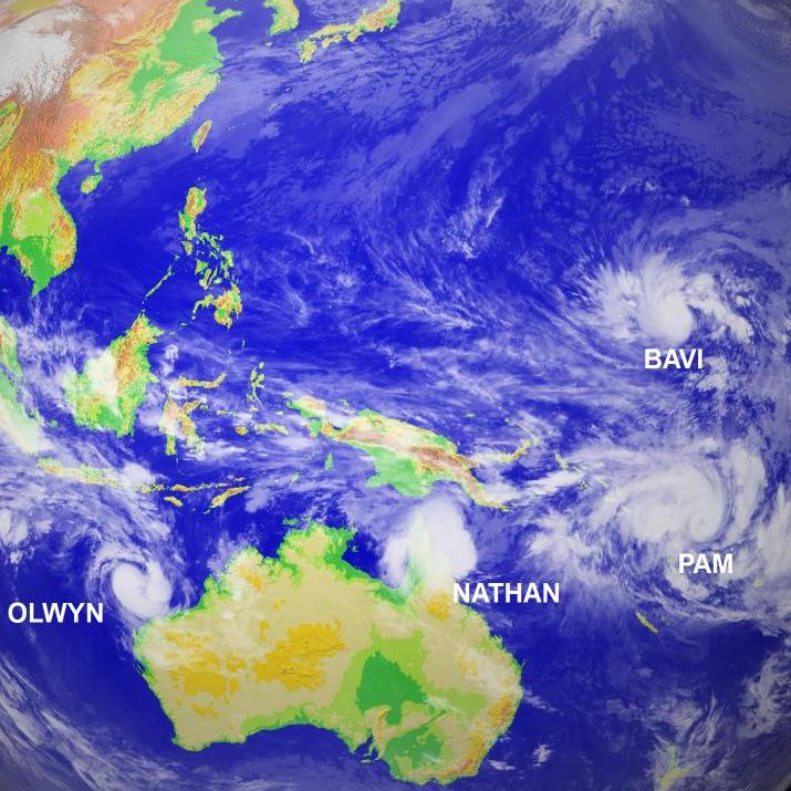 Image d'illustration pour Bavi, Olwyn, Nathan et Pam : pré-alerte cyclonique en Nouvelle Calédonie