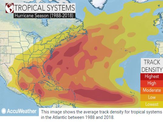 Image d'illustration pour Andrea ouvre la saison des cyclones sur l'Atlantique