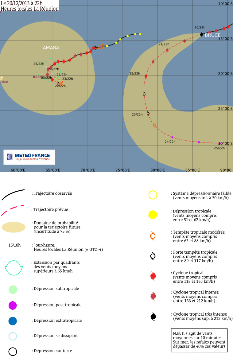 Image d'illustration pour Cyclone tropical intense Bruce - Océan Indien