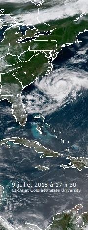 Image d'illustration pour Cyclones Beryl et Chris sur l'Atlantique
