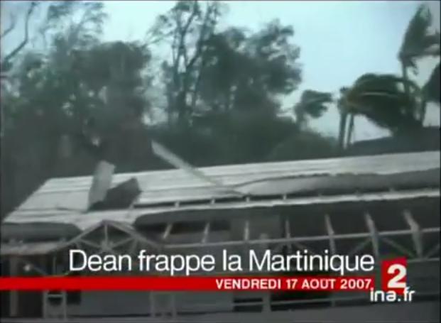 Image d'illustration pour 17 août 2007 : l'ouragan Dean traverse les Antilles Françaises