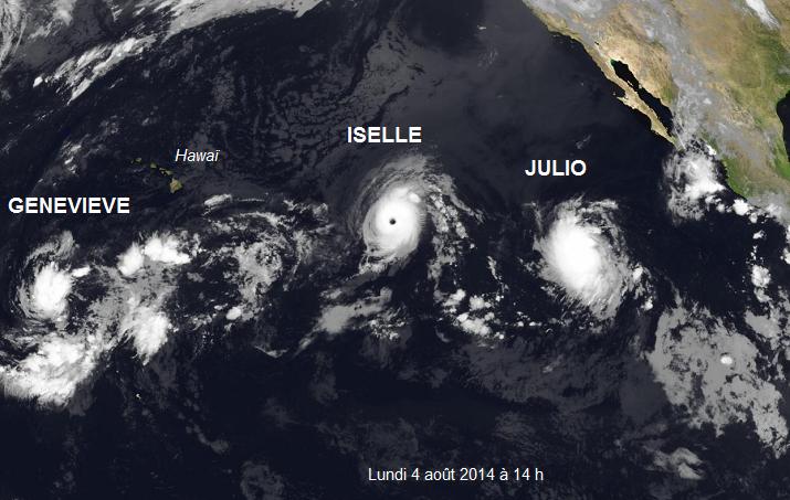 Image d'illustration pour Cyclone : Julio et Iselle sur le Pacifique Nord-Ouest (Hawaï)
