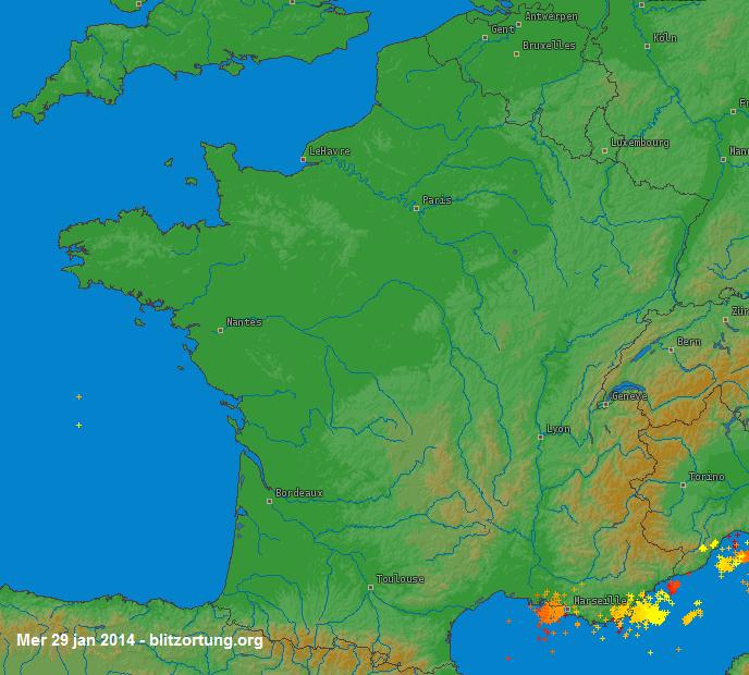 Image d'illustration pour Neige et intempéries sous la dépression Mayla au coeur de la France