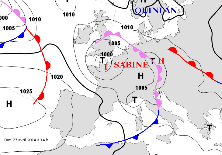 Image d'illustration pour Dépression Sabine vue du satellite