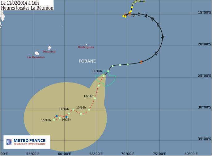 Image d'illustration pour Dépression Subtropicale Fobane (Océan Indien)