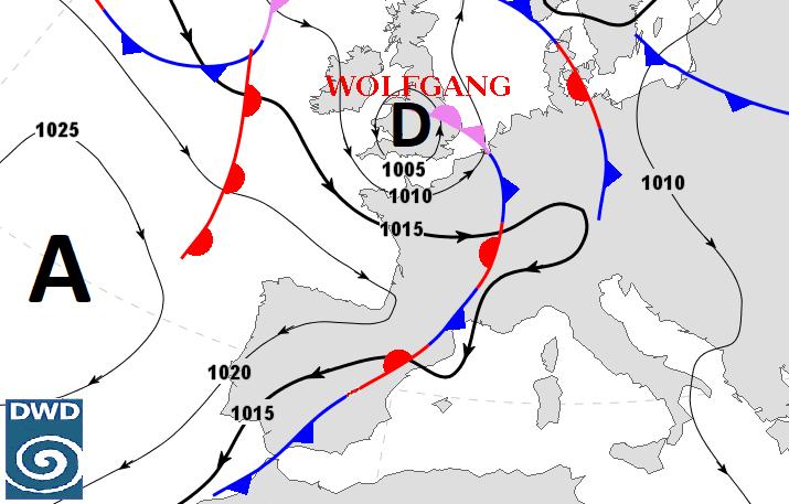 Image d'illustration pour Vent fort entre Bretagne & Manche au passage de Wolfgang