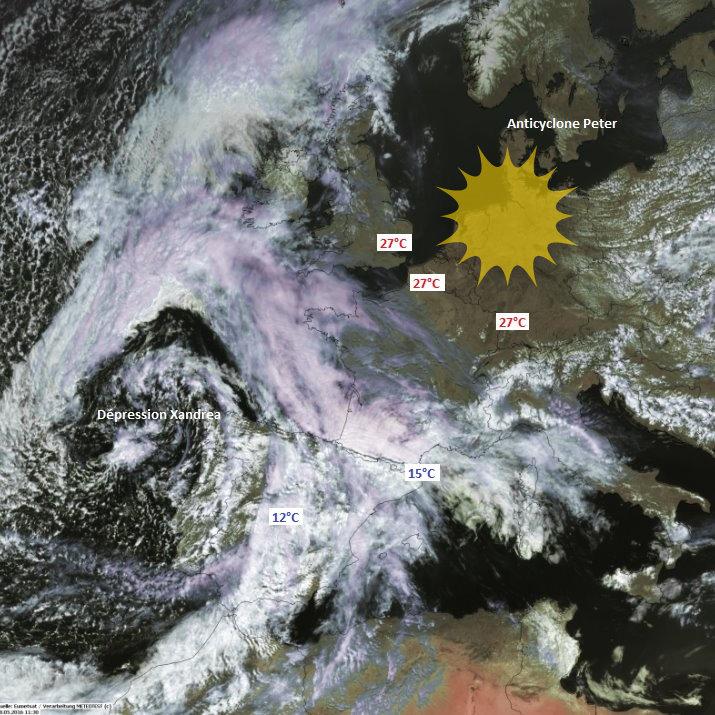 Image d'illustration pour Coup chaud avant les orages sous l'influence de Xandrea