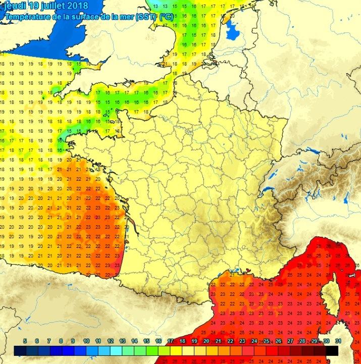 Image d'illustration pour Soleil sur les plages et température de l'eau élevée