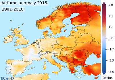 Image d'illustration pour 2015, seconde année la plus douce en Europe après 2014