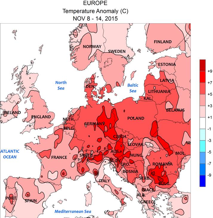 Image d'illustration pour Des excès de douceur sur l'ensemble de l'Europe - Les gelées sont rares