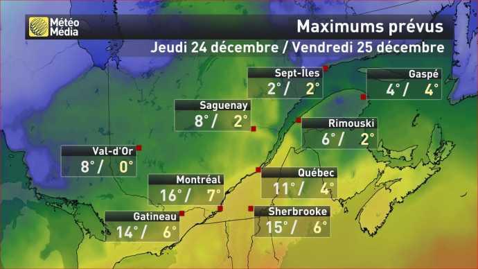 Image d'illustration pour Vers un Noël historiquement doux au Québec et sur l'Est des Etats-Unis