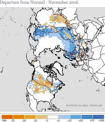 Image d'illustration pour Enneigement sur l'hémisphère Nord proche de la normale