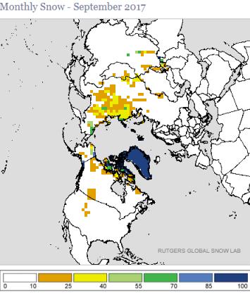 Image d'illustration pour Enneigement supérieur à normale sur l'Hémisphère Nord