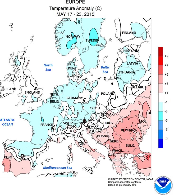 Carte De Leurope Meteo.Vers Un Temps Plus Chaud Et Plus Ensoleille 26 Mai 2015 Html