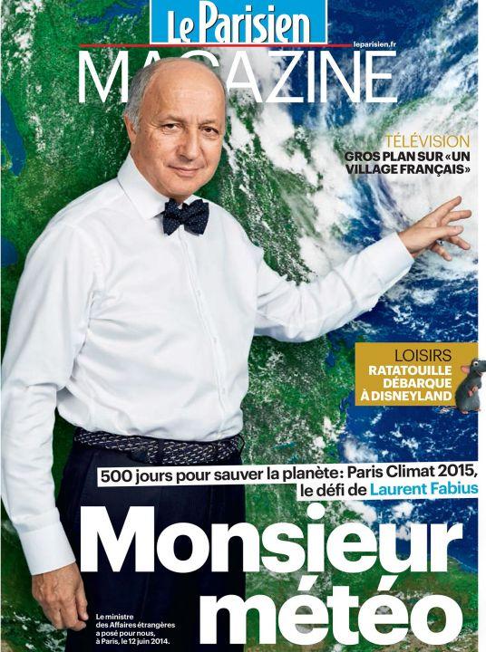 Image d'illustration pour Laurent FABIUS en Monsieur Météo pour le Parisien Magazine
