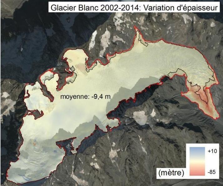 Image d'illustration pour Recul des glaciers des Alpes face au réchauffement climatique