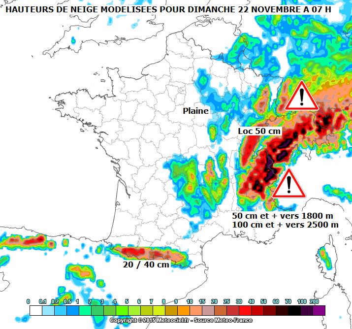 Image d'illustration pour Vigilance météo - pluie, crue, inondations, neige, avalanche et vent