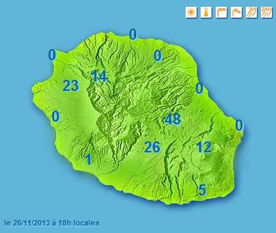 Image d'illustration pour Fortes pluies en Réunion