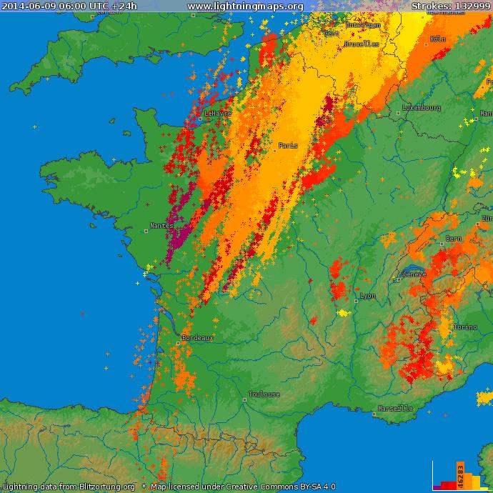 Image d'illustration pour Synthèse des orages du 6 au 13 juin : grêle, rafale, tornade et crue subite