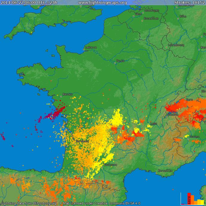 Image d'illustration pour Synthèse de l'épisode orageux du 22 au 25 juin au Sud de la France