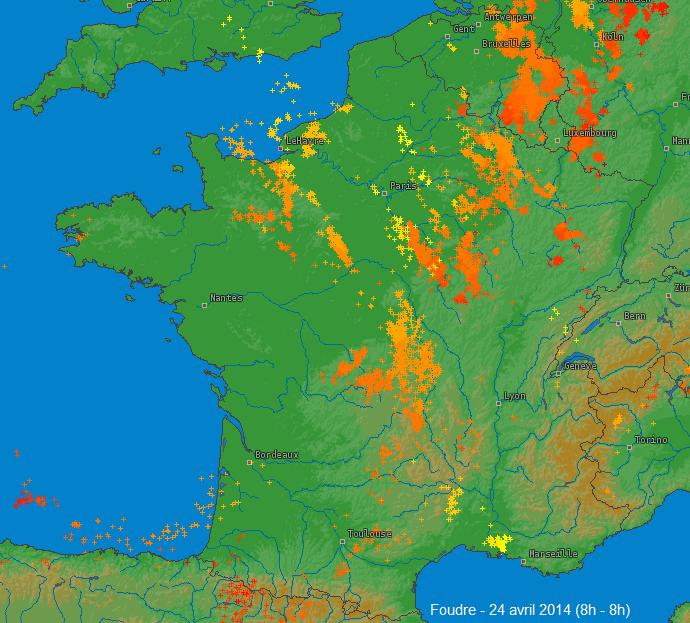 Image d'illustration pour Forts orages de grêle dans le Calvados - Normandie
