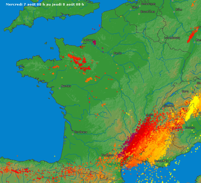 Image d'illustration pour Orages violents au Sud-Est (Drôme - Vaucluse) - vigilance