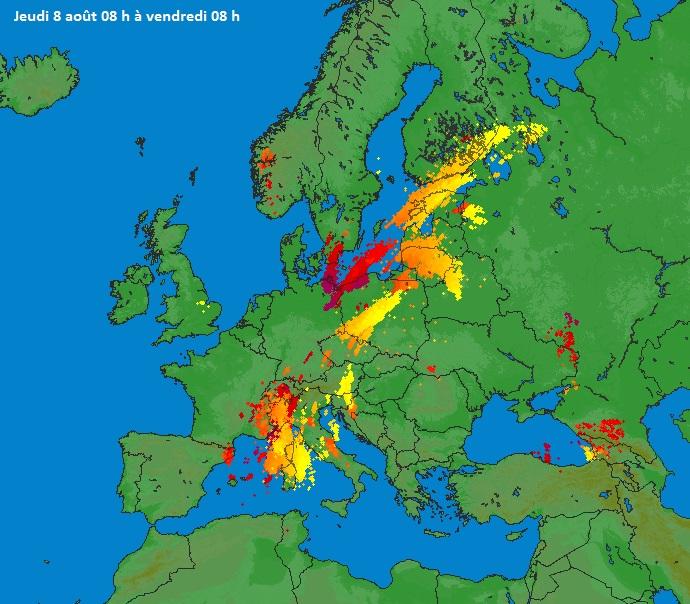 Image d'illustration pour Orages violents en Corse - Trombe sur le Léman