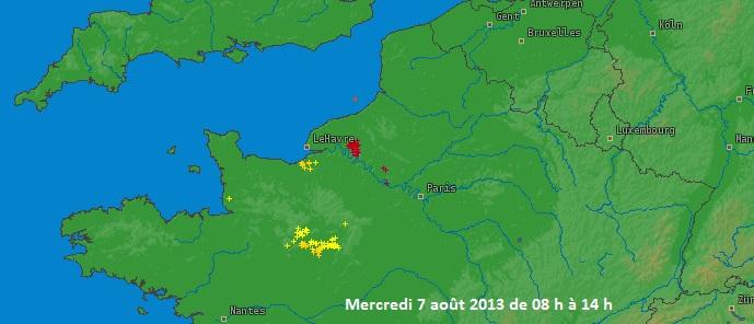 Image d'illustration pour Fortes pluies orageuses à Rouen