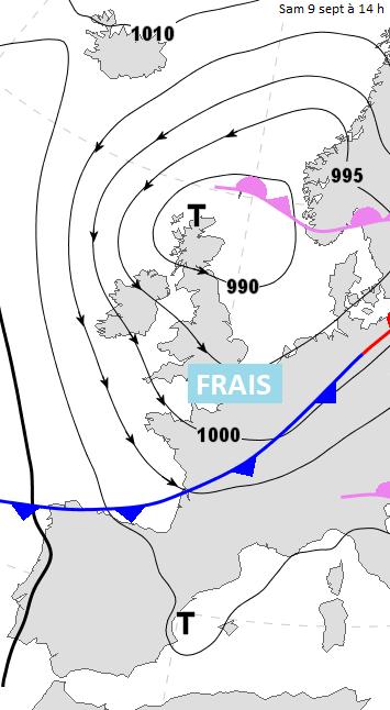 Image d'illustration pour Fraîcheur, pluie et vent sous un front froid ce week-end