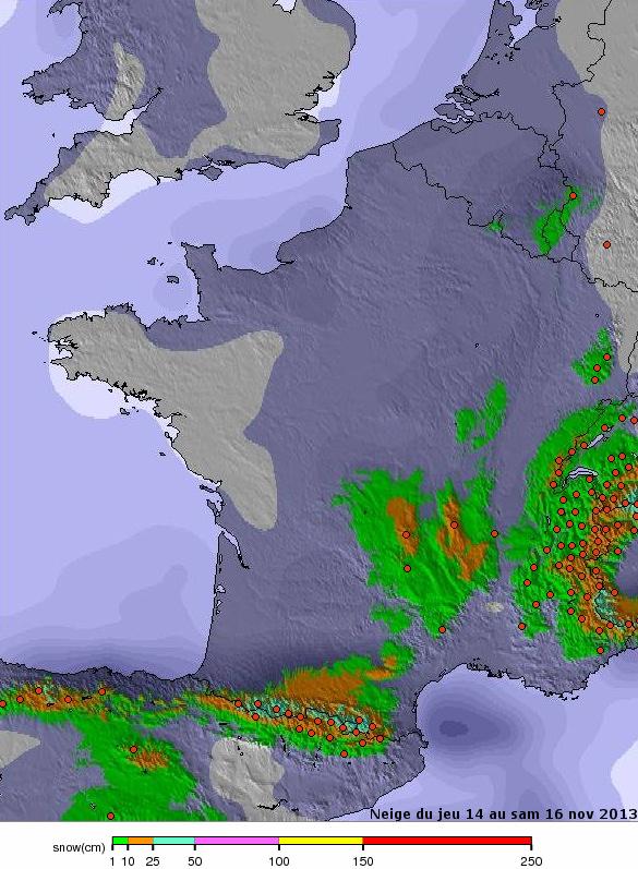 Image d'illustration pour Pluie, fraîcheur et neige sur la France