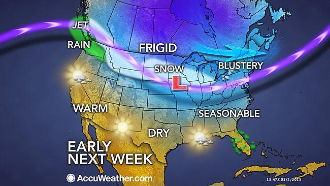 Image d'illustration pour Vortex polaire : neige et froid entre Canada et Etats-Unis