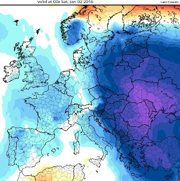 Image d'illustration pour Vers une vague de froid sur l'Europe de l'Est