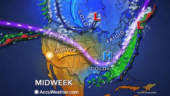 Image d'illustration pour Ecarts de température extrêmes en Amérique du Nord