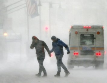 Image d'illustration pour Blizzard, neige et records de froid entre Canada et Etats-Unis