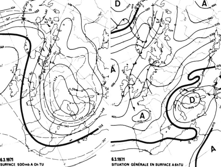 Image d'illustration pour Vague de froid tardive et neige en mars 1971