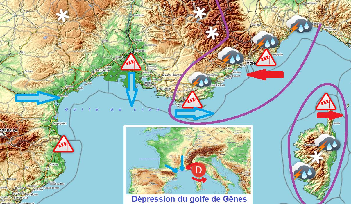 Image d'illustration pour Quels sont les différents types d'épisodes méditerranéens?